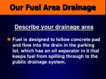 our fuel area drainage