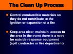 the clean up process
