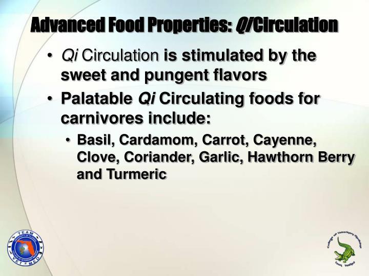 Advanced Food Properties: