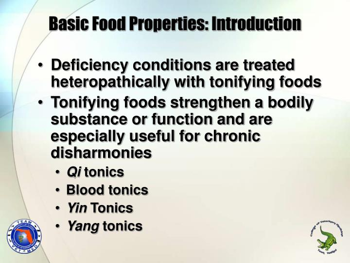 Basic Food Properties: Introduction