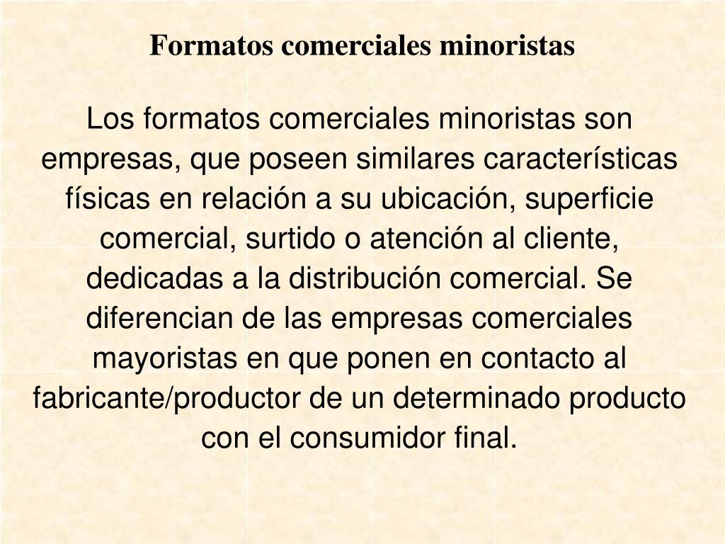 Formatos comerciales minoristas