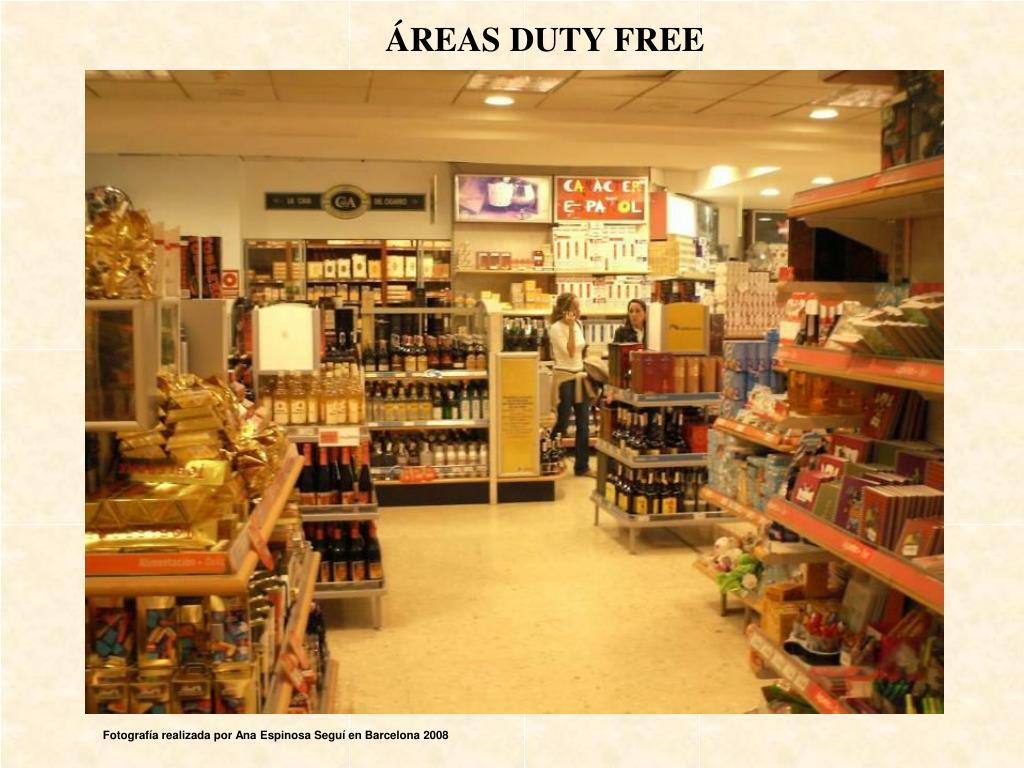 ÁREAS DUTY FREE