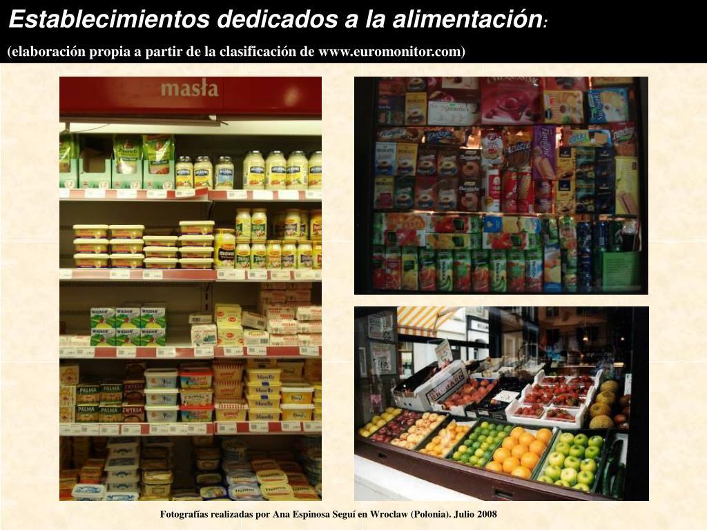 Establecimientos dedicados a la alimentación