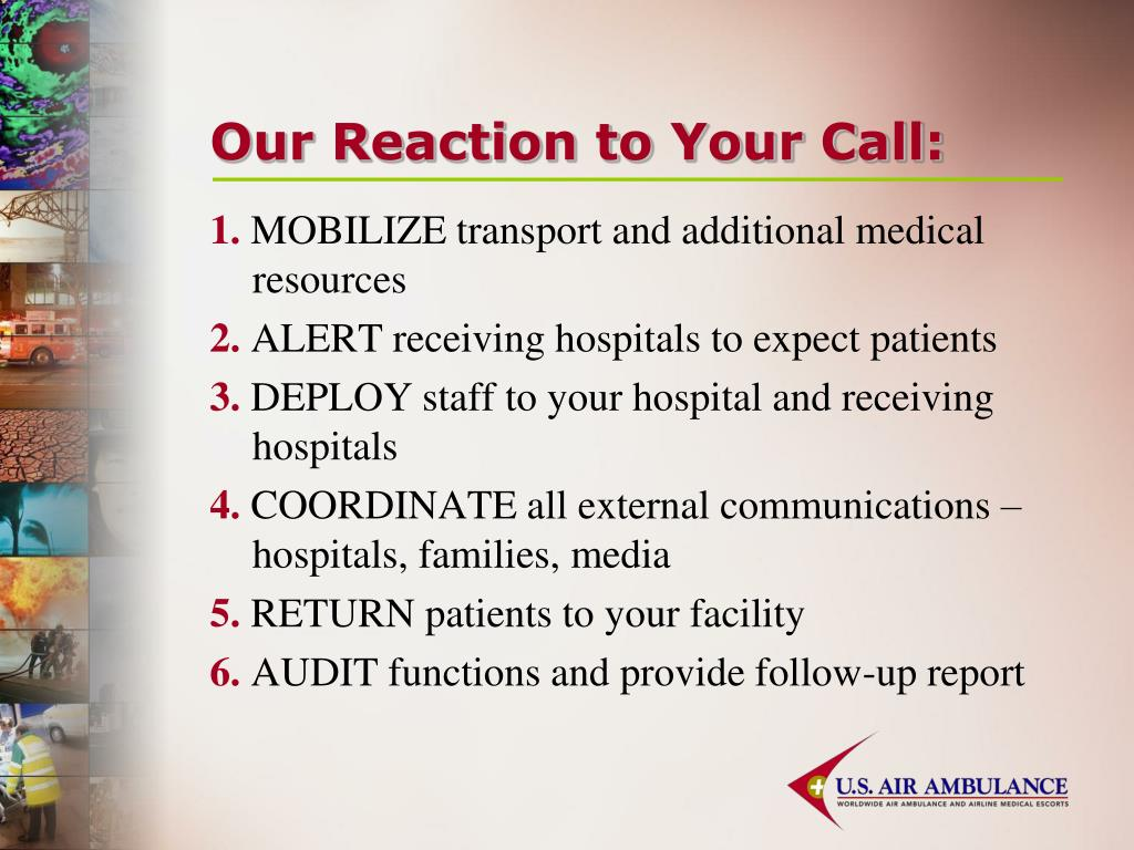 Our Reaction to Your Call:
