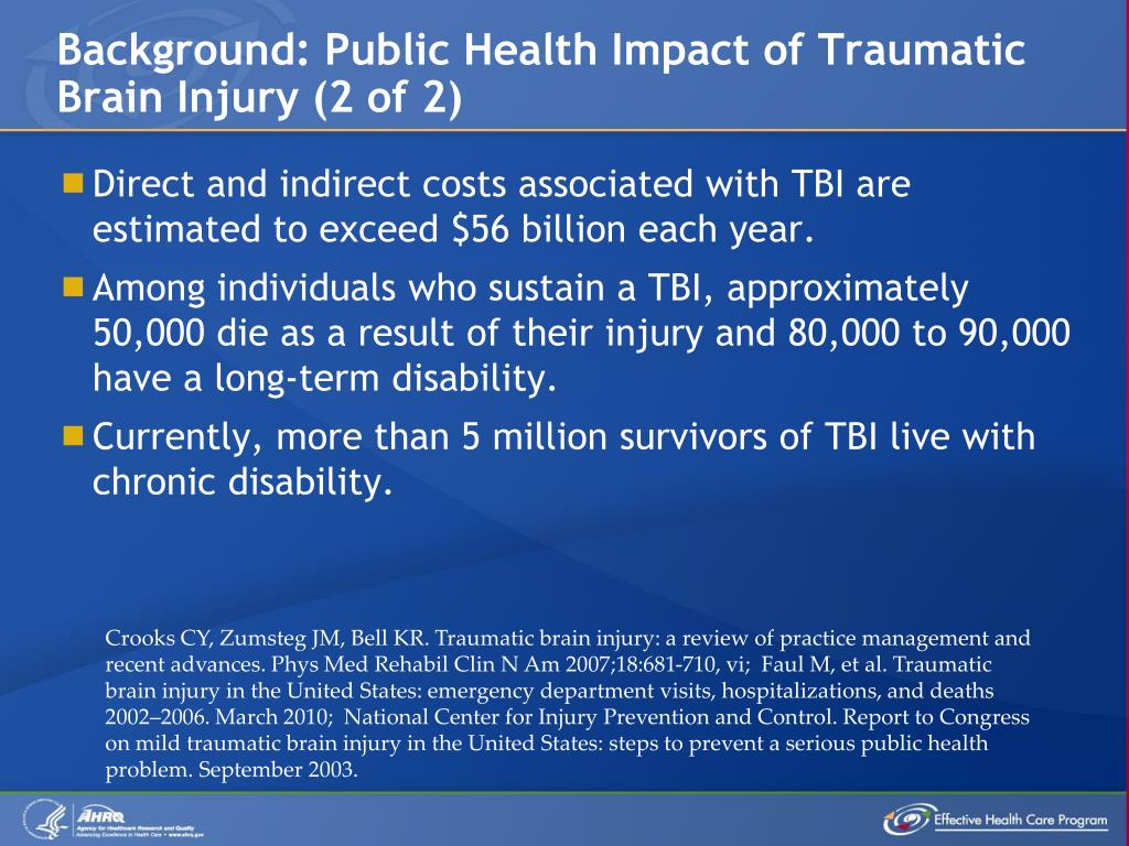 Background: Public Health Impact of Traumatic