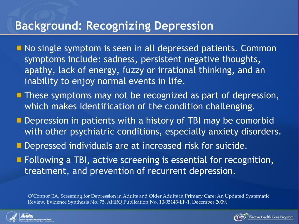 Background: Recognizing Depression