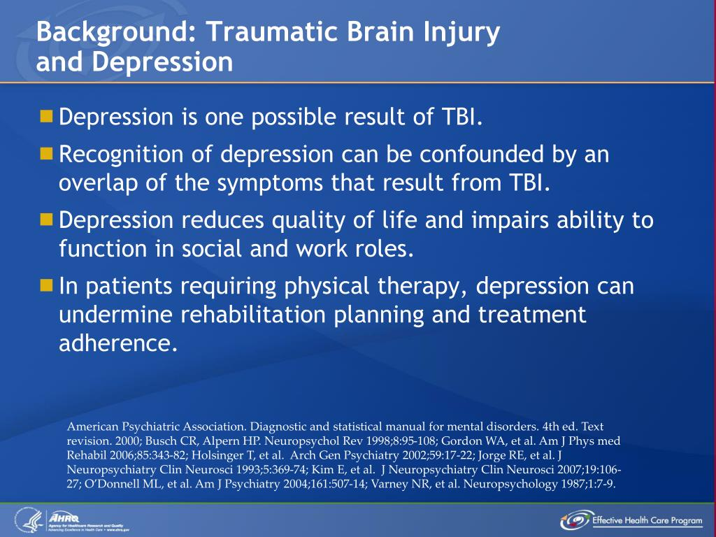 Background: Traumatic Brain Injury