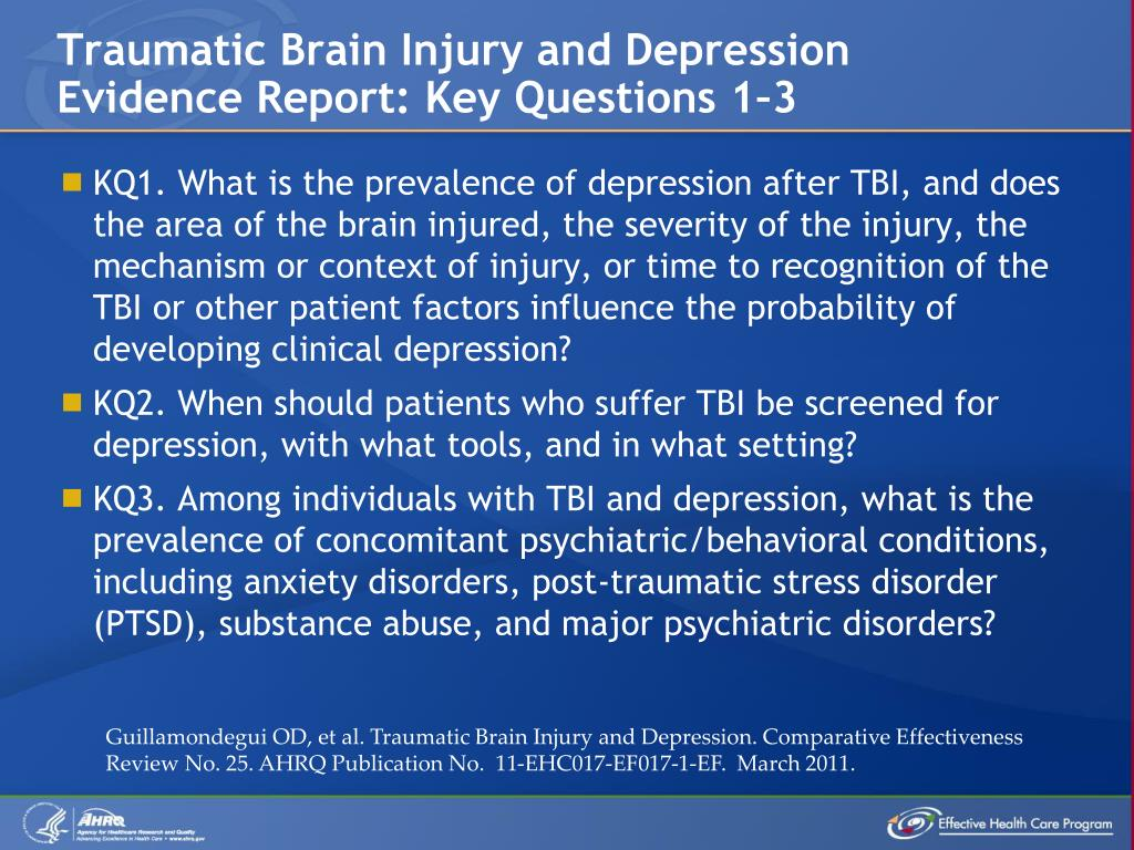 Traumatic Brain Injury and Depression