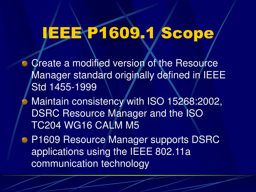 Ppt dsrc application layers ieee p1609 powerpoint for Ieee definition