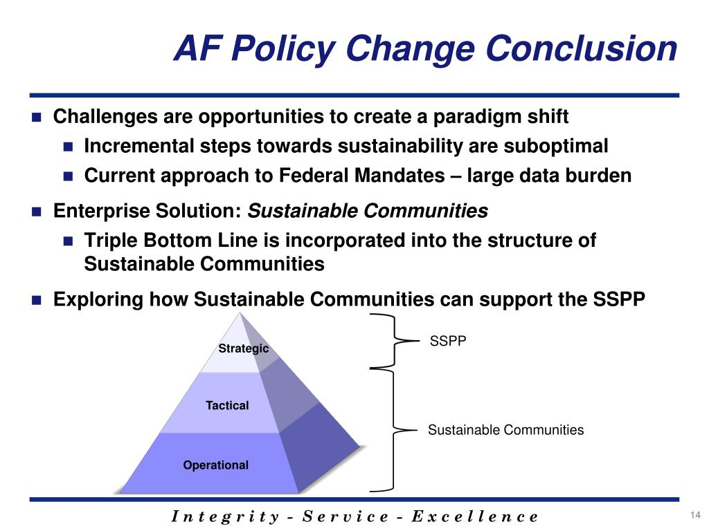 AF Policy Change Conclusion
