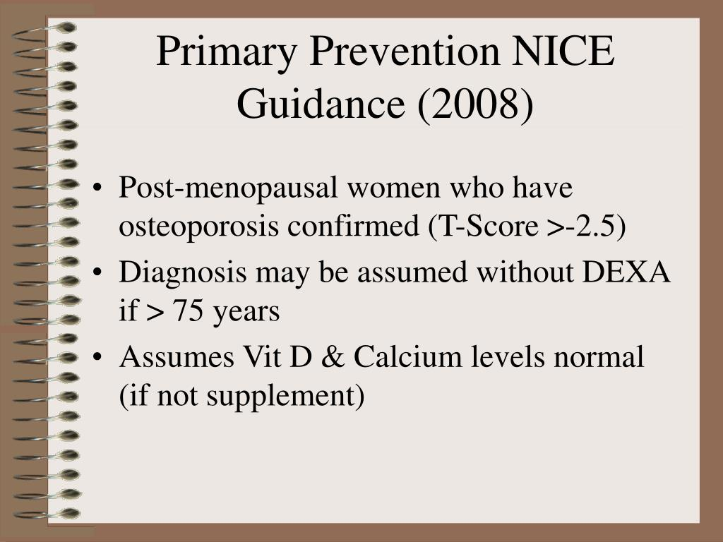 Primary Prevention NICE Guidance (2008)