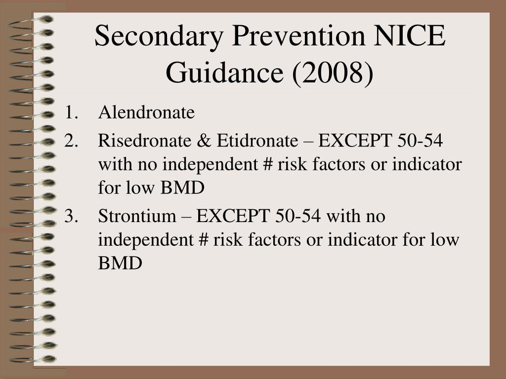 Secondary Prevention NICE Guidance (2008)
