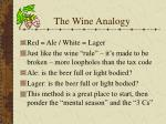 the wine analogy