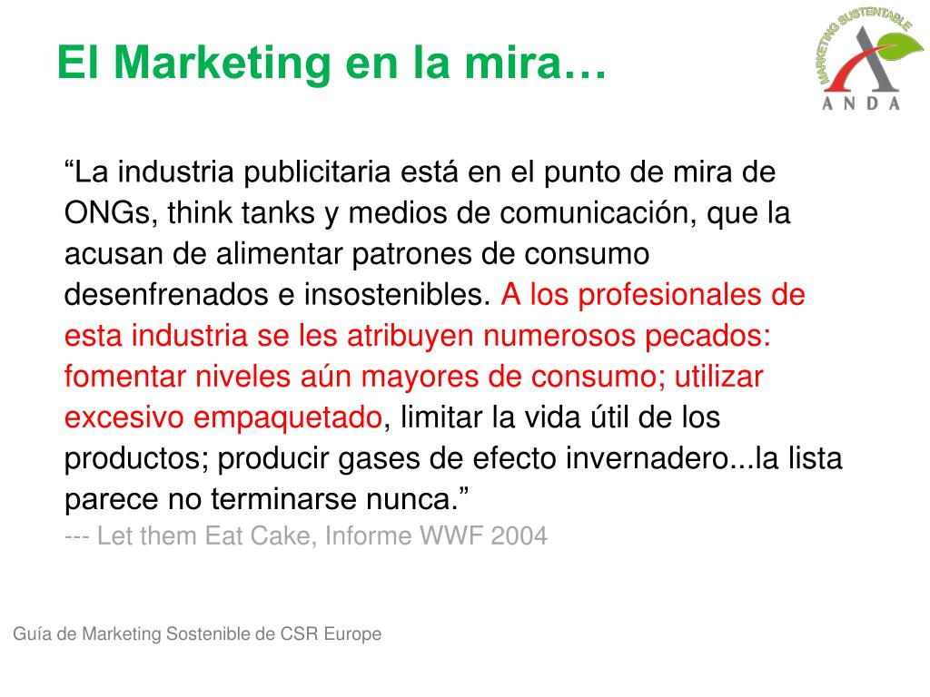 El Marketing en la mira…