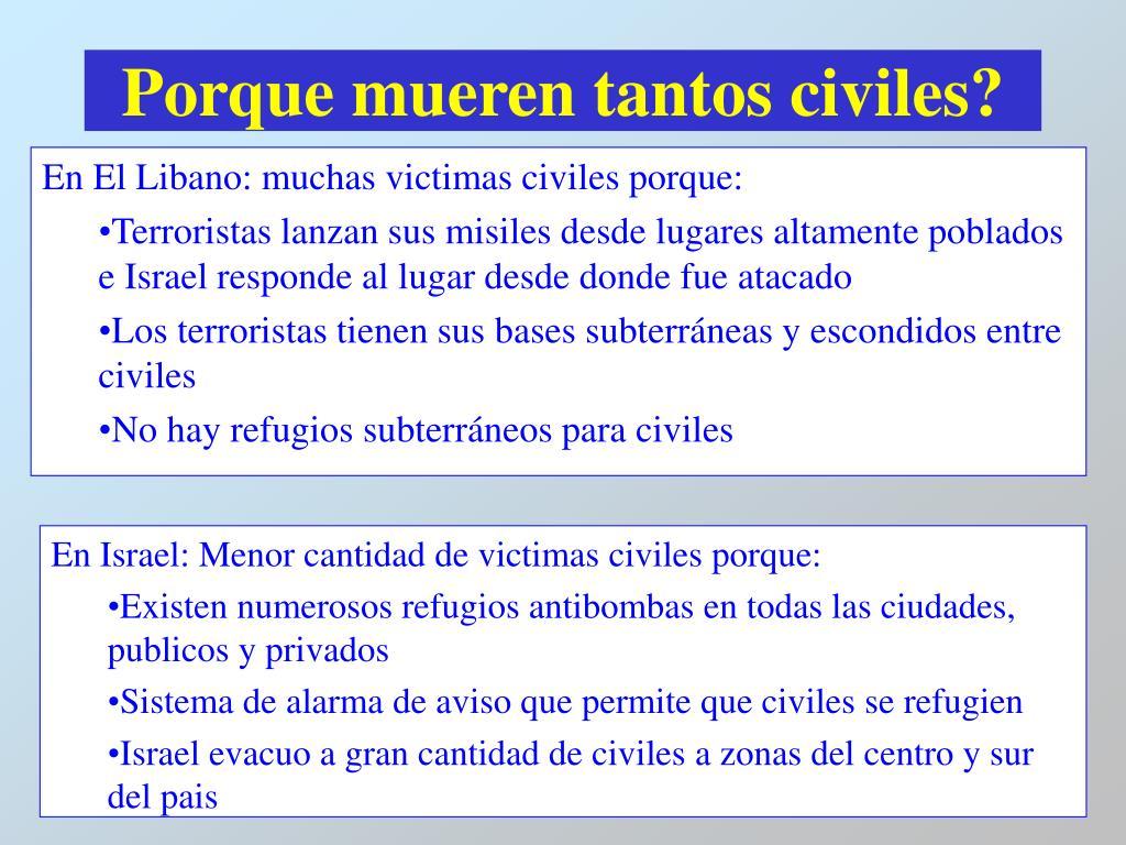Porque mueren tantos civiles?