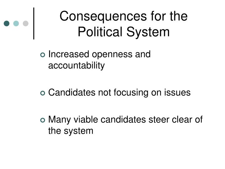 Consequences for the Political System