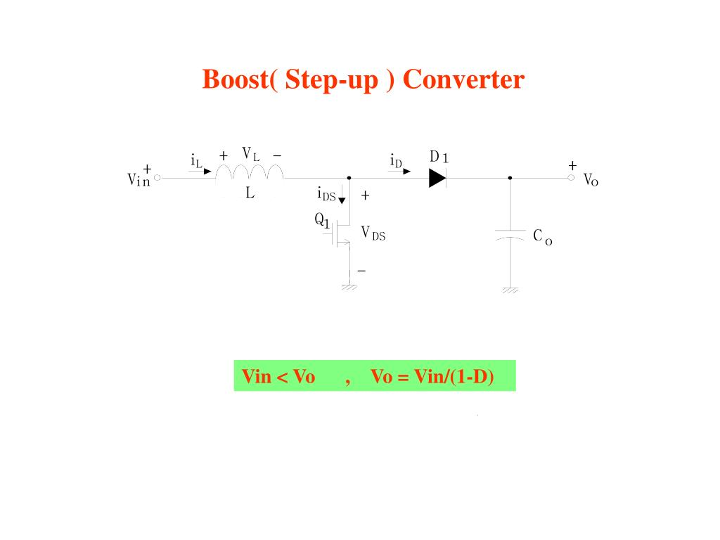 Boost( Step-up ) Converter