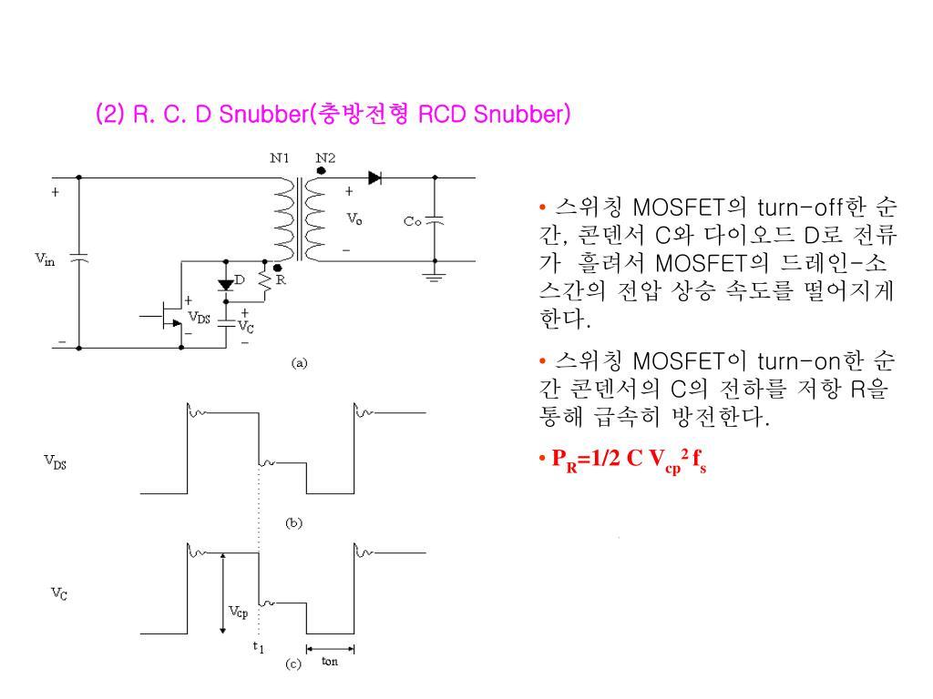 (2) R. C. D Snubber(