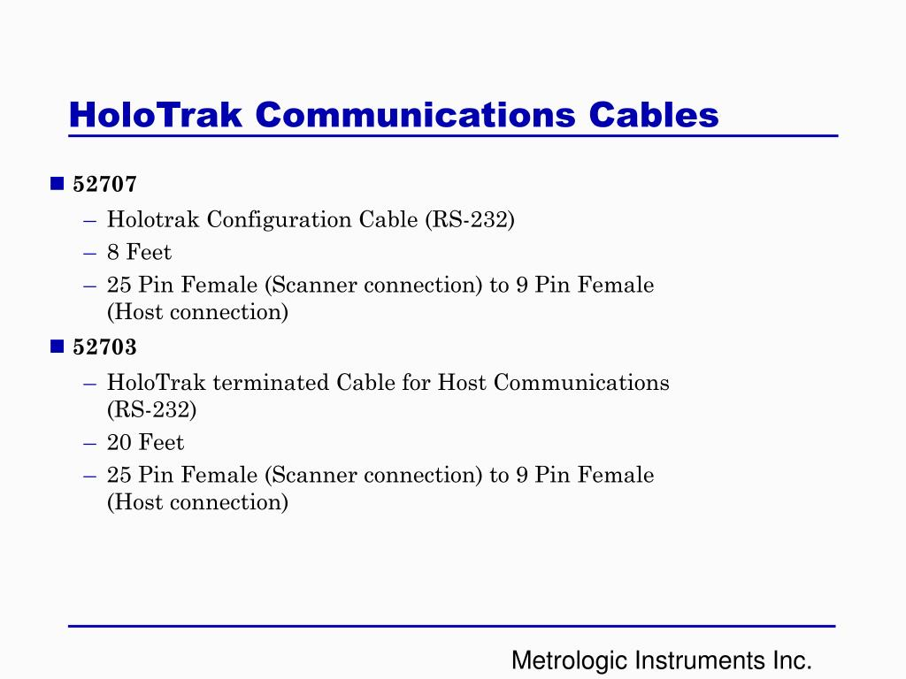 HoloTrak Communications Cables