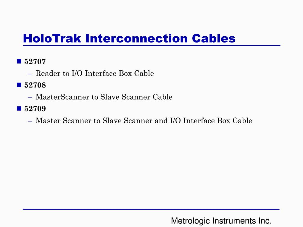 HoloTrak Interconnection Cables
