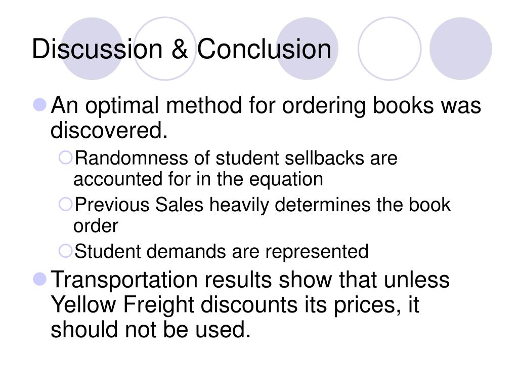 "conclusion discussion How to write an effective discussion give the ""take-home message"" in the form of a conclusion the discussion section should relate your study findings to."