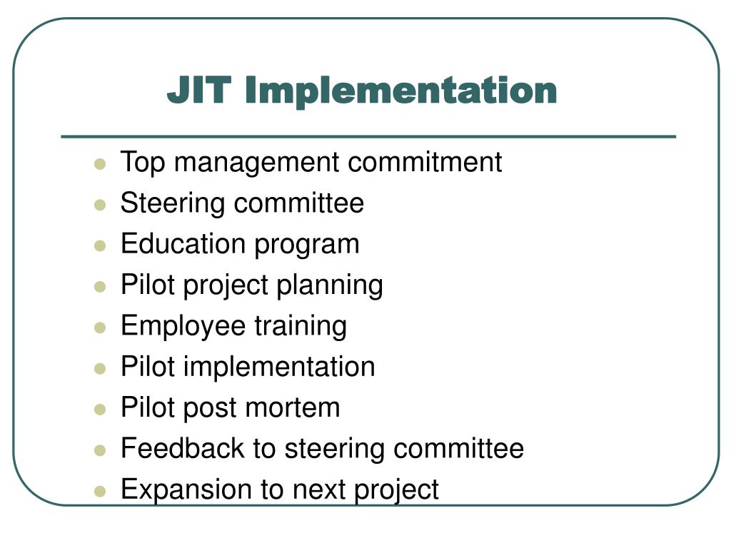 JIT Implementation