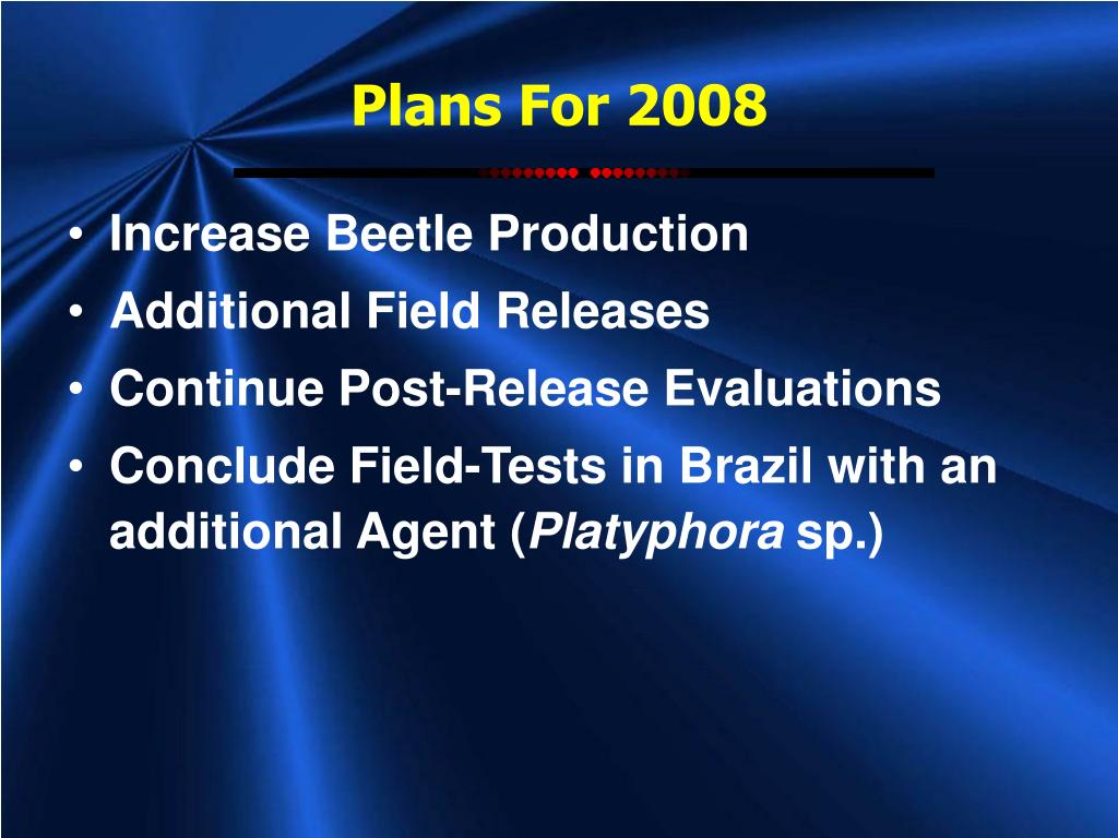 Plans For 2008