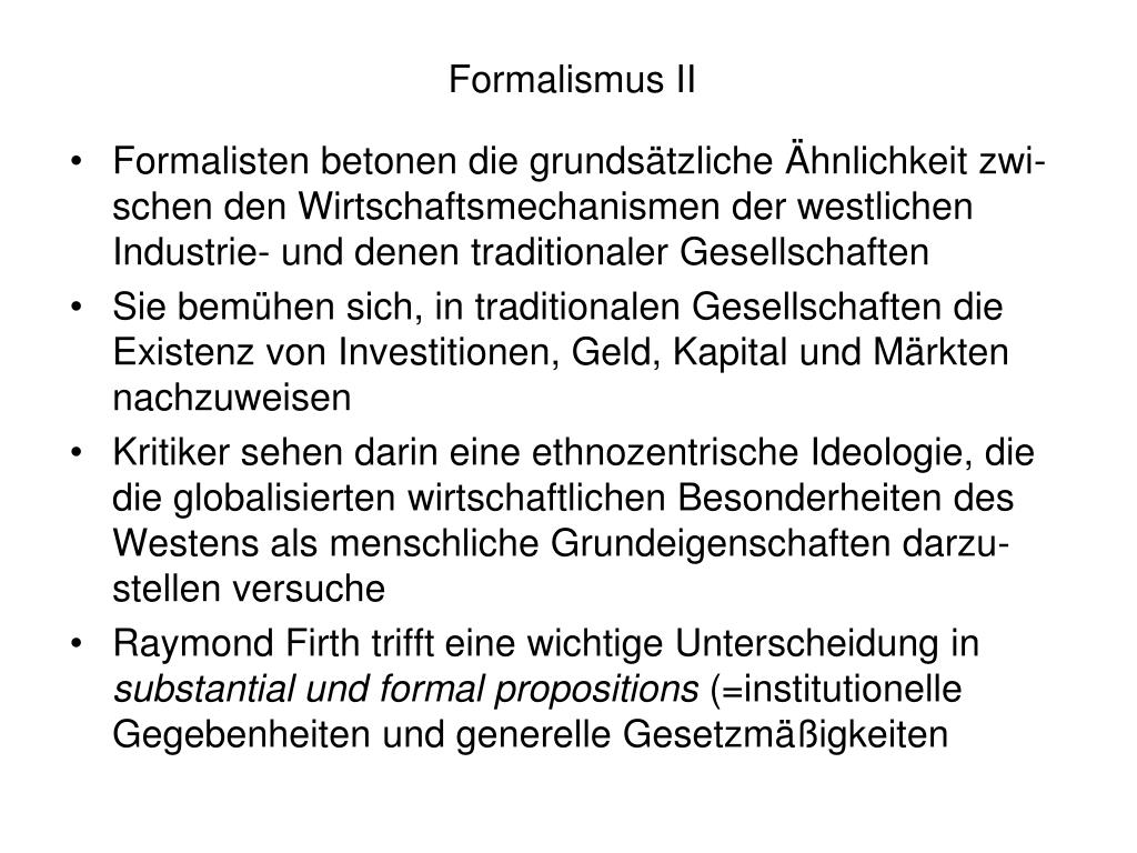 Formalismus II