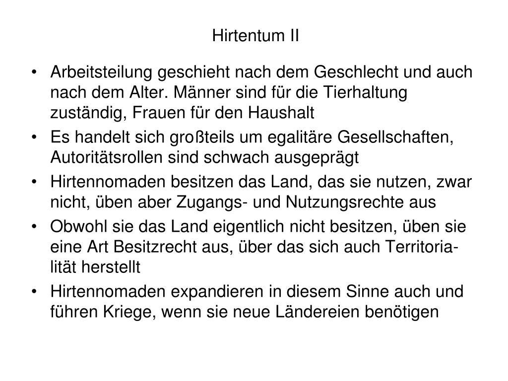 Hirtentum II