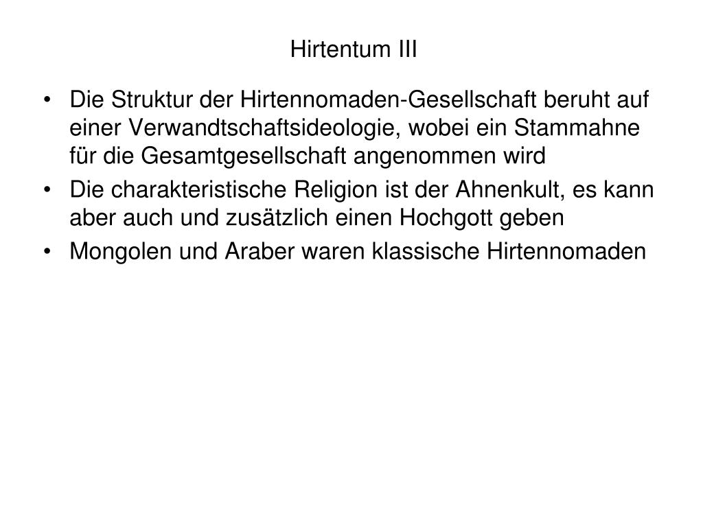 Hirtentum III