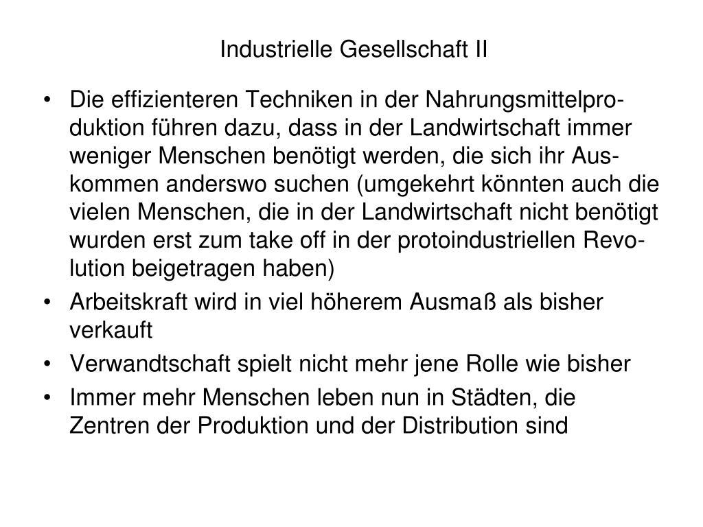 Industrielle Gesellschaft II