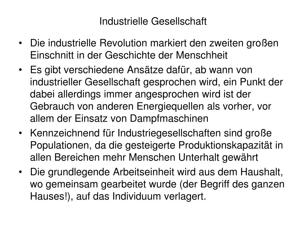 Industrielle Gesellschaft