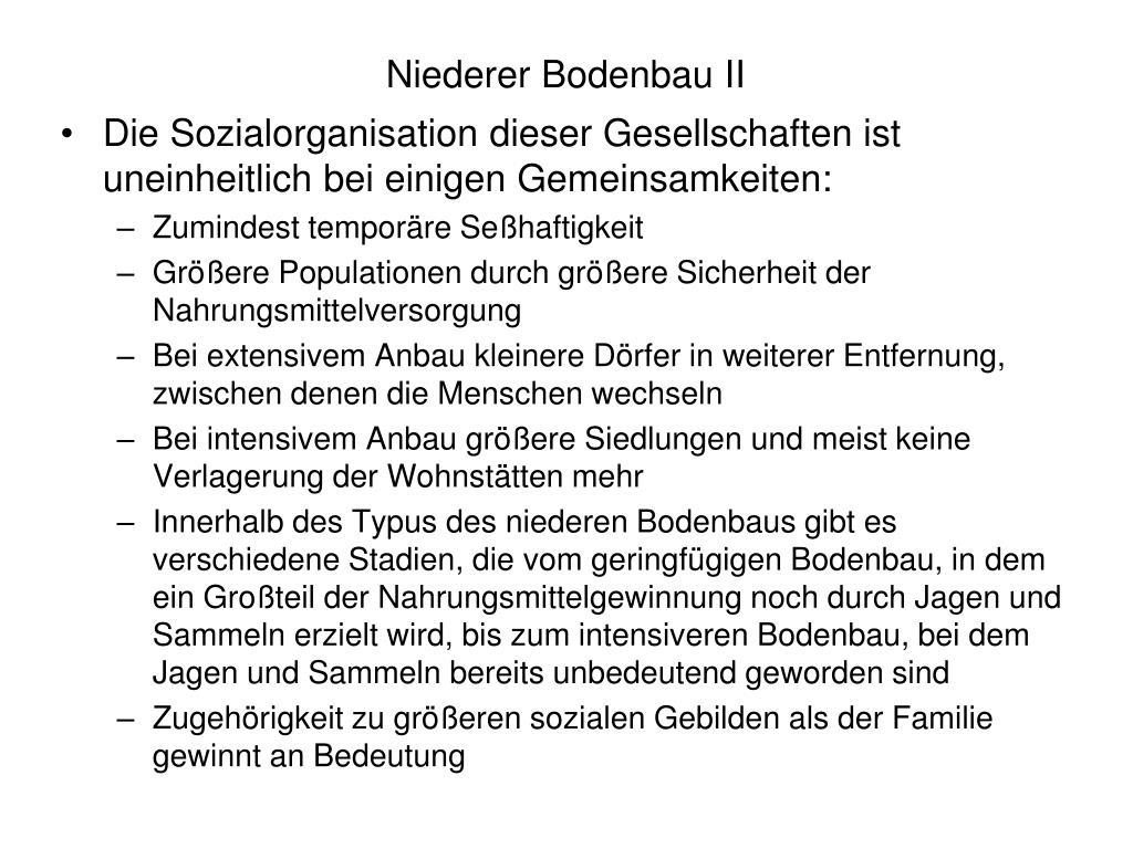 Niederer Bodenbau II