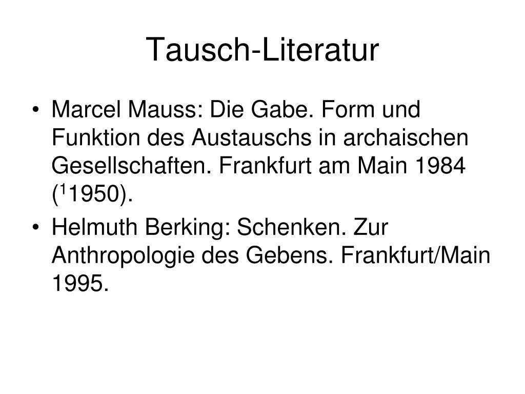 Tausch-Literatur