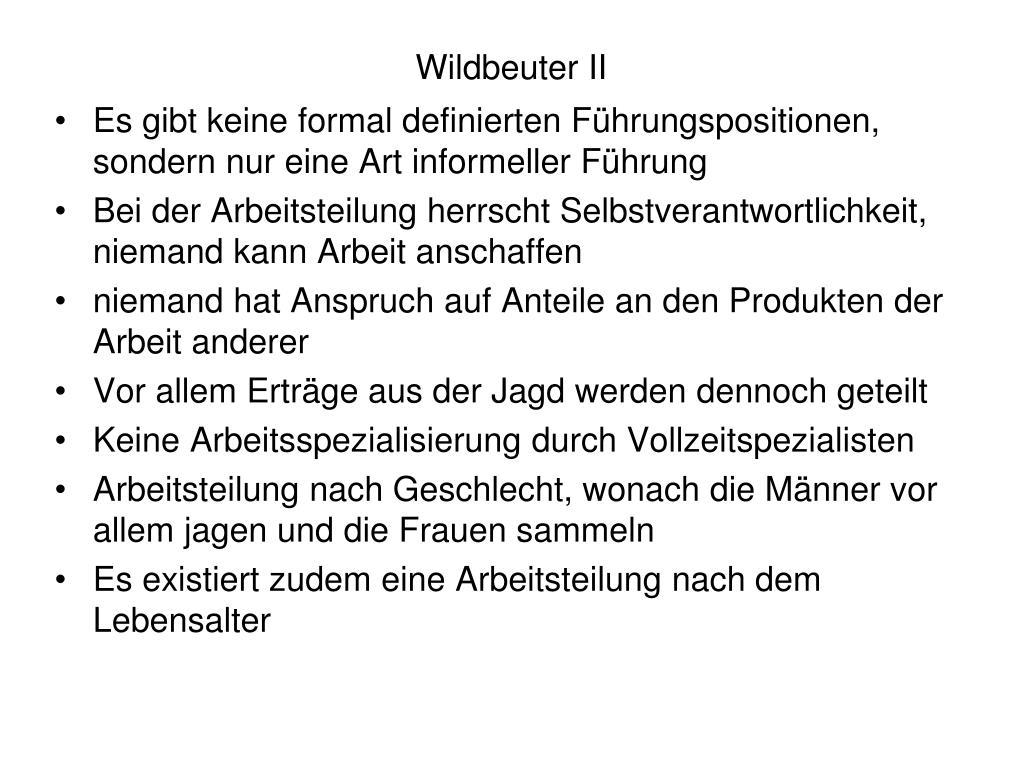 Wildbeuter II