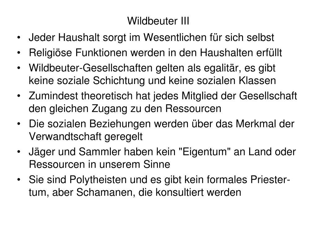 Wildbeuter III