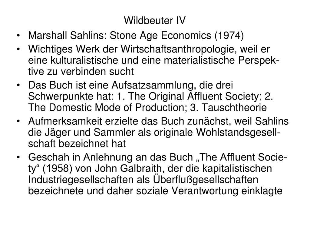 Wildbeuter IV