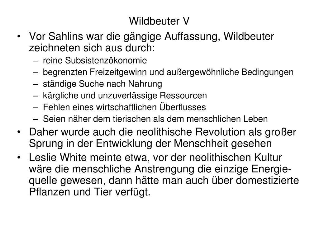 Wildbeuter V