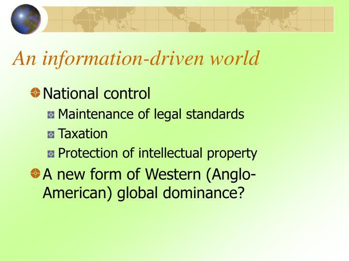 An information-driven world