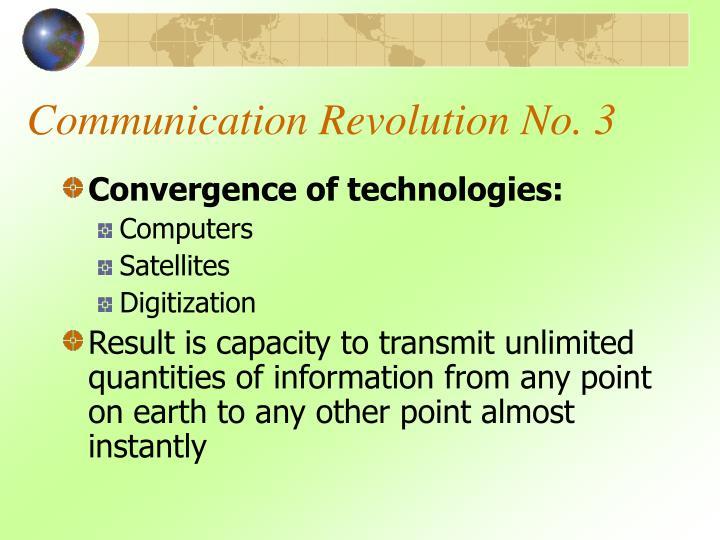 Communication Revolution No. 3