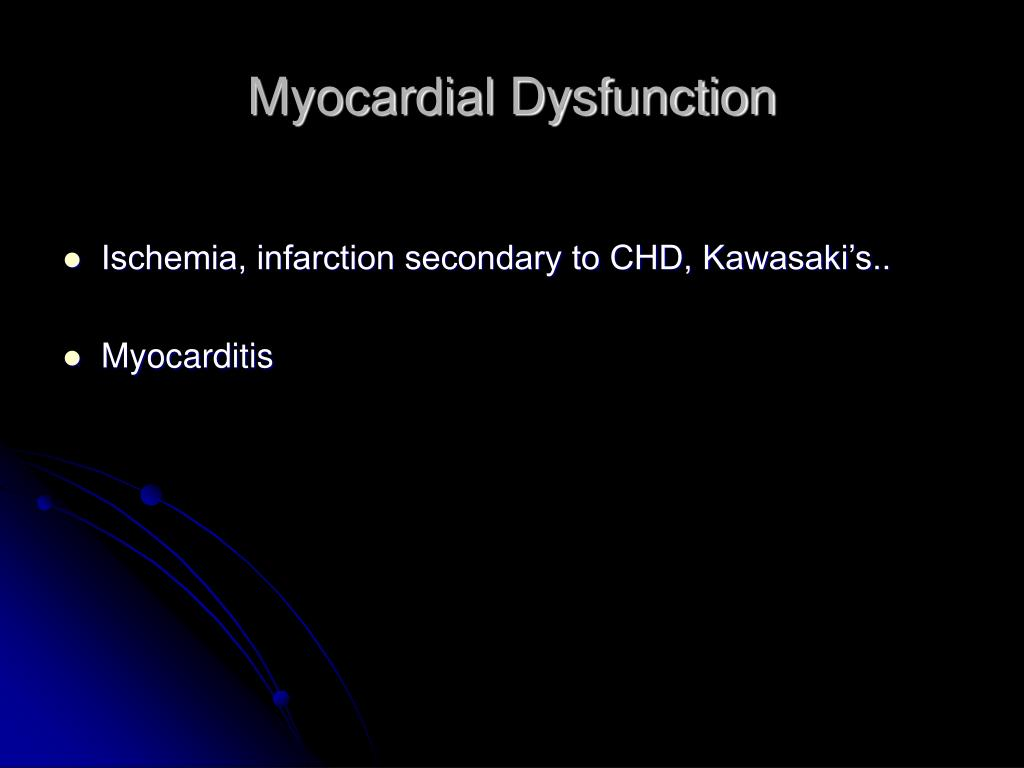 Myocardial Dysfunction