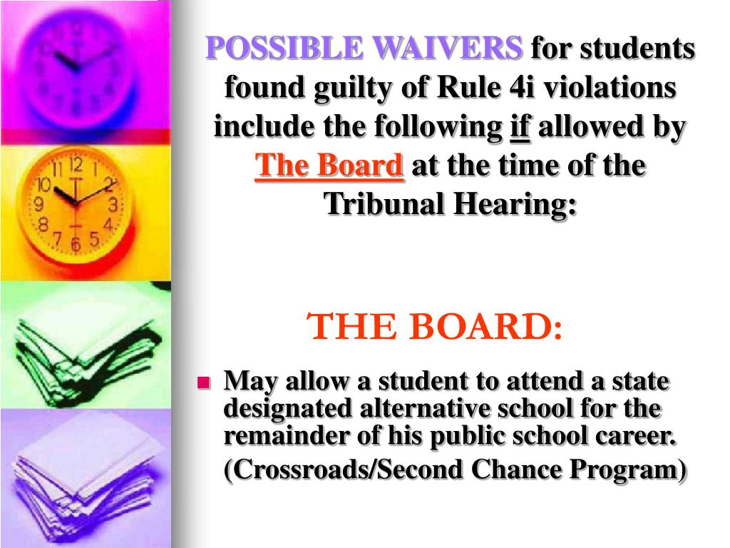 POSSIBLE WAIVERS