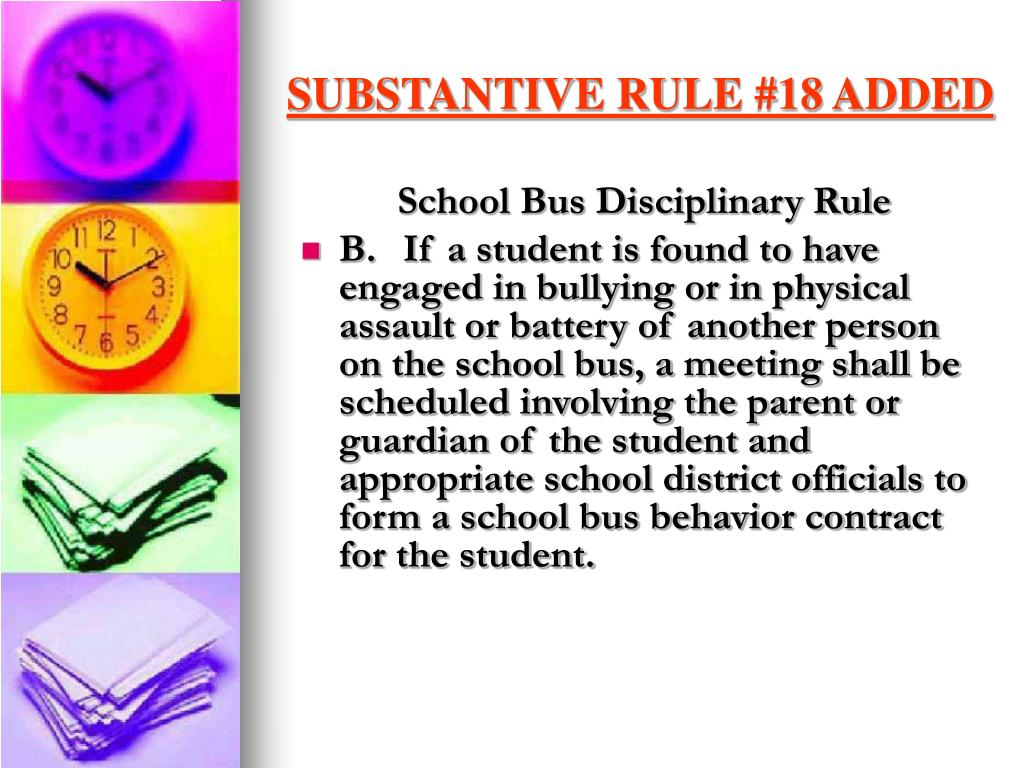 SUBSTANTIVE RULE #18 ADDED