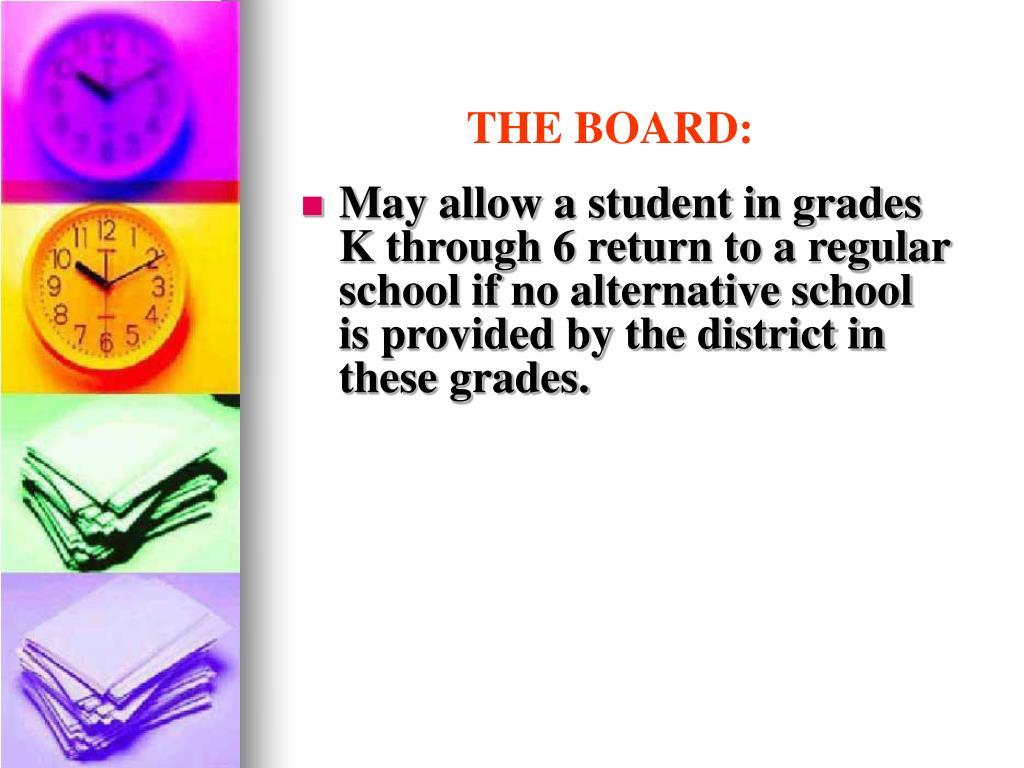 THE BOARD: