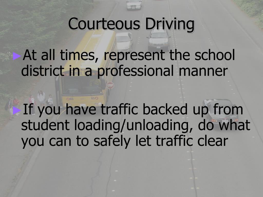 Courteous Driving