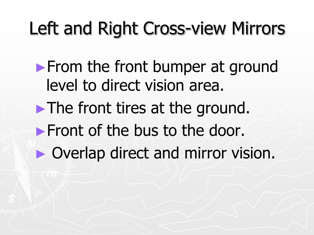 Left and Right Cross-view Mirrors