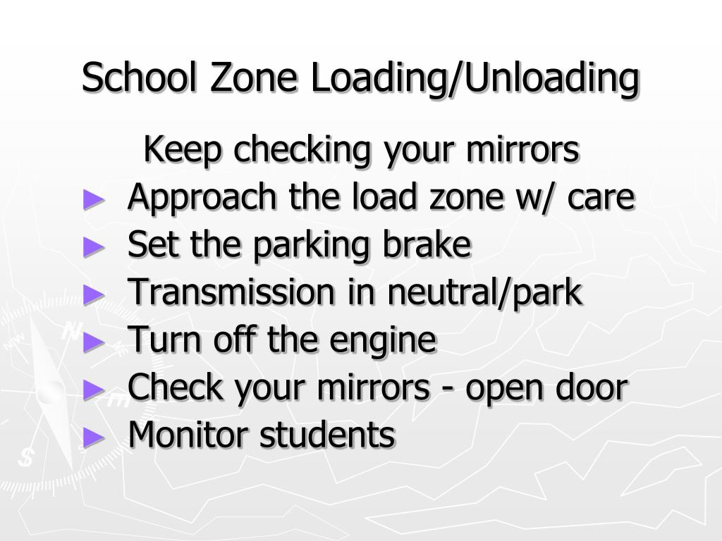 School Zone Loading/Unloading