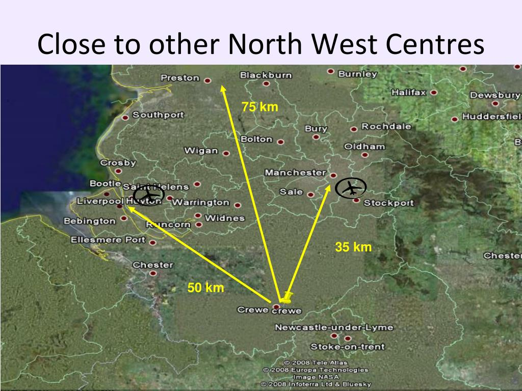 Close to other North West Centres