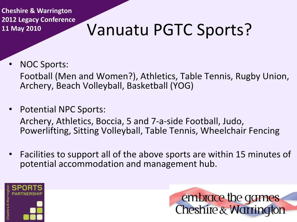 Vanuatu PGTC Sports?