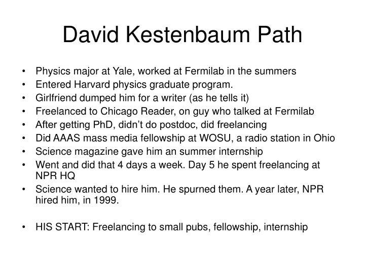 David Kestenbaum Path
